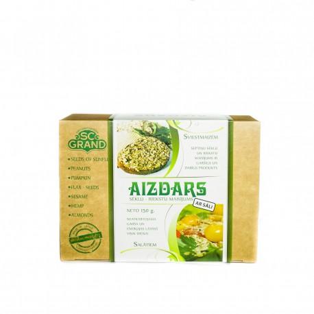 AIZDARS - sēklu un riekstu maisījums ar sāli, 150g