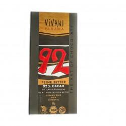 BIO VIVANI tumšā šokolāde ar 92% kakao